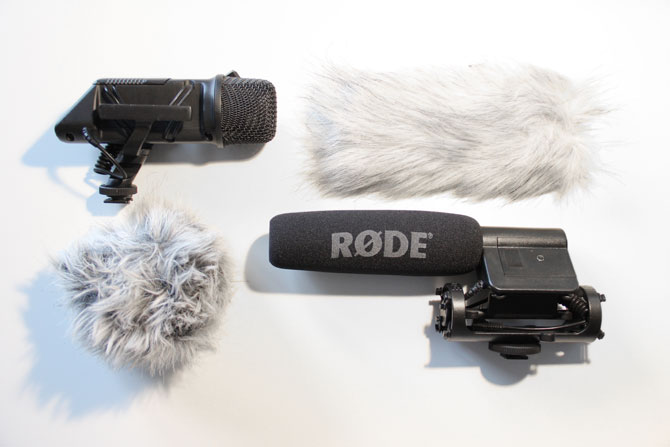 Røde Stereo-VideoMic (li.) und Røde VideoMic
